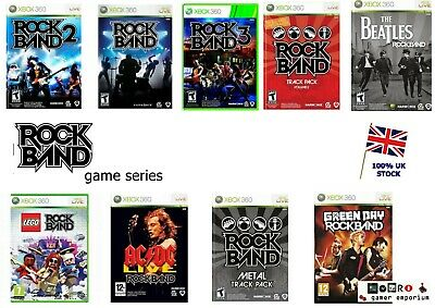 Xbox 360 Rock band Game SERIES - RockBand Lego The Beatles Green Day 2 3 etc