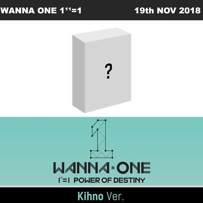 WANNA ONE 1¹¹=1 POWER OF DESTINY KIHNO Ver CD+PhotoCard+etc / Tracking Number