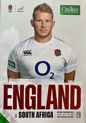England V South Africa Programme November 2018 Brand New Quilter Internationals.