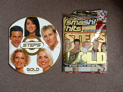STEPS 2001 Gold Tour Programmeand Ltd Edn Smash Hits Mag Both MINT Condition