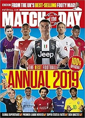 Match of the Day Annual 2019 Hardcover Football Game Book for Kids, Ronaldo....