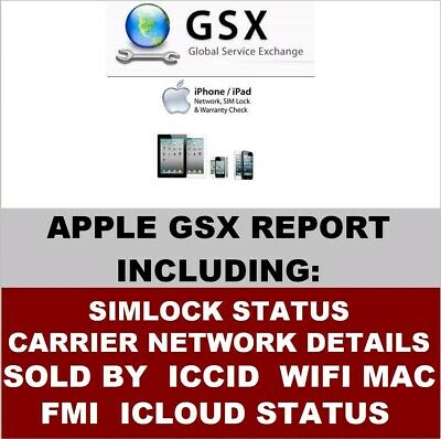 Sold By Apple Cases FMI iCIoud Status Carrier SIMLock iPhone IMEI Check Service