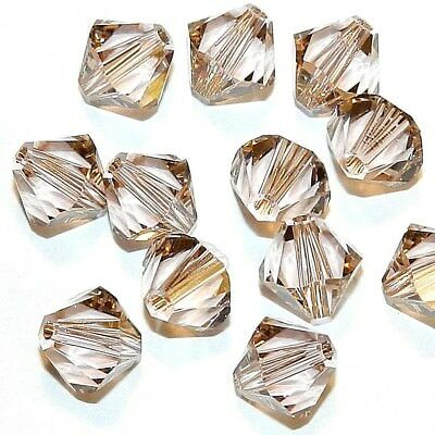 SCB679 Vintage Rose Pink 8mm Faceted Xilion Bicone Swarovski Crystal Beads 12pc
