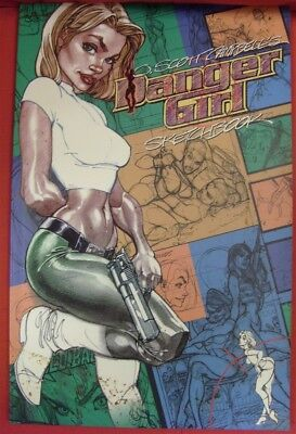 Danger Girl Sketchbook Cliffhanger Dc Comic 2Nd Print J. Scott Campbell 2002 Vf+