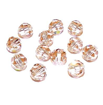 SCR420 Cantaloupe Color-Changing Peach Green 6mm Round Swarovski Crystal Beads