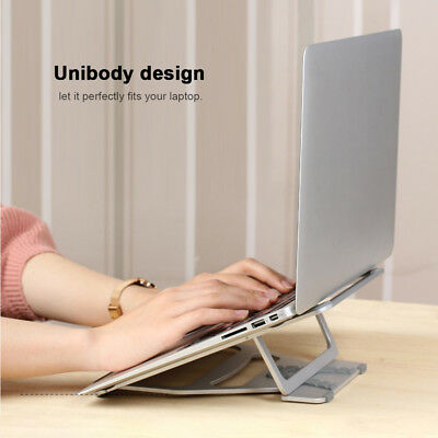 Portable Laptop Stand Mount Holder Alloy Foldable Fr Office Notebook Tablet Q7H0