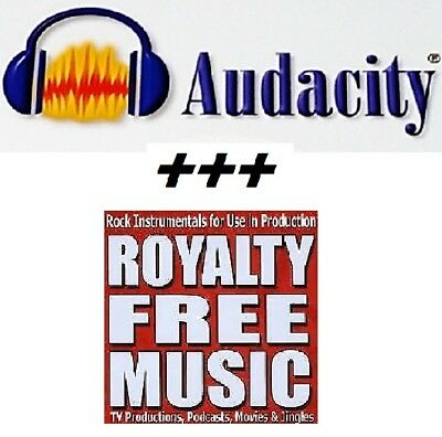 Audacity Audio editing plus Over * 1044 high quality royalty free music tracks *