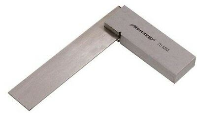 "Engineers Solid Steel Square 75mm 3"" Precision Set Tri Try Square Polished blade"