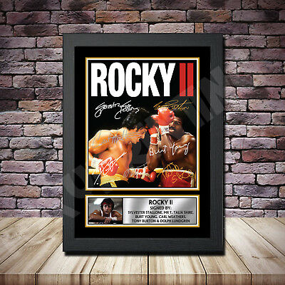 Rocky Balboa 2 Film Stallone Signed Framed Poster Autographed Print A1 A2 A3 A4