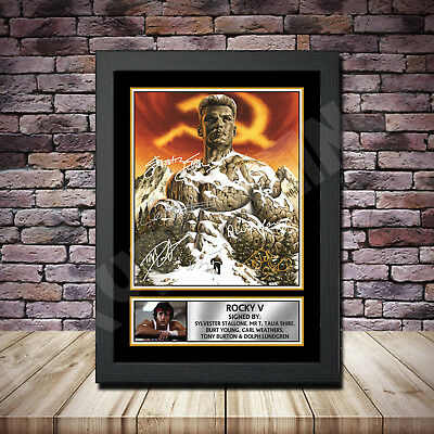 Rocky Balboa 4 Film Stallone Signed Framed Poster Autographed Print A1 A2 A3 A4