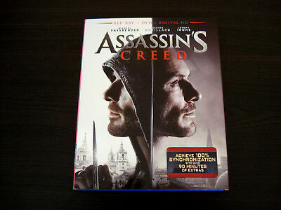 assassins creed blu-ray with slipcover and dvd lot fun movie used