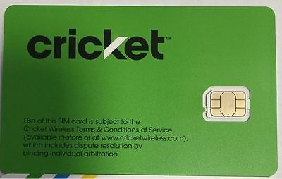 New Cricket Sim Card, 4G Lte, Gsm Phones, Brand New.