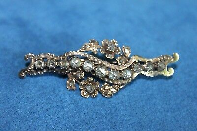 Antique Georgian Early Victorian Rose Cut Diamond Gold Brooch Pin Maybe Russian