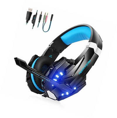 Micro Casque Ps4 Gaming Audio Stereo Basse Avec Led Lampe