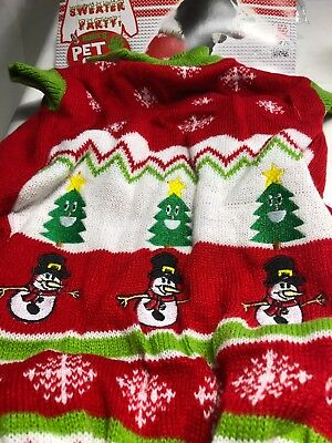 Christmas Patter Sweater Pet Dog Costume Size: Large