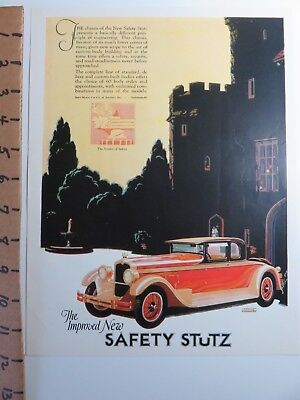 Collectible 1927 Colorful Stutz Motor Car Indianapolis Indiana