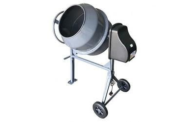 180L Electric Drum Concrete Cement Mixer Highly Portable W Two Wheels Mortar DIY