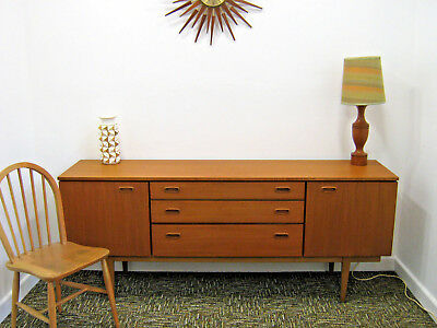 Retro Teak Sideboard by Nathan. Vintage 6' Danish styled media stand Northants