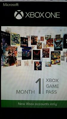 1 month Xbox One Game Pass Code (New Game Pass Accounts Only) Please Read