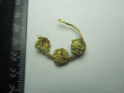 Antique gold. Byzantine gold. Metal detector finds  100% original