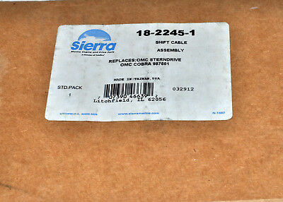 Sierra Intermediate Shift Cable For OMC Cobra Replaces OMC 987661 Part# 18-2245