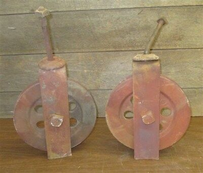 Barn Door Carriage House Rolling Hardware Vintage Pulley Architectural Salvage g