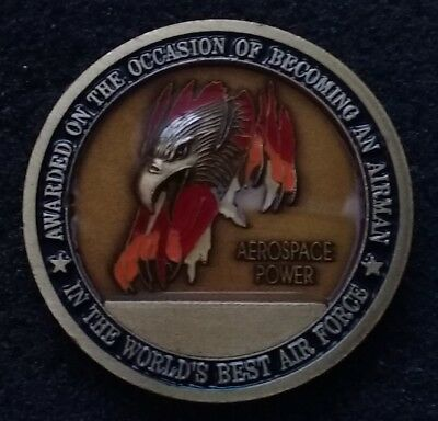 AUTHENTIC Becoming An Airman USAF Air Force BMT Basic Training Challenge Coin