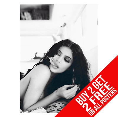 Kylie Jenner Smoking Cigarette Poster A4 A3 Size Print - Buy 2 Get Any 2 Free