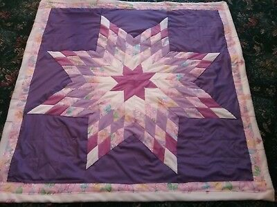 Beautiful authentic Native American Lakota Sioux baby star quilt Purple