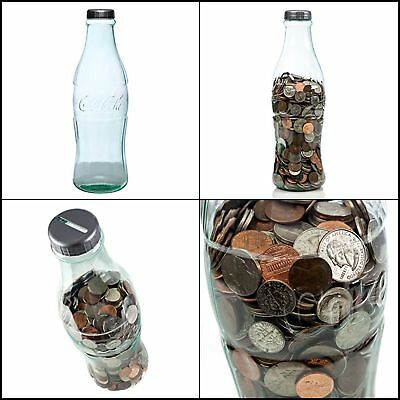 Giant Bottle Bank Coin Cola Large Gift Adults Moneybox Piggy Bank Saver Case 12""