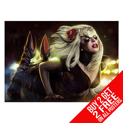 LADY GAGA WALLPAPER A3 POSTER PRINT YF1053