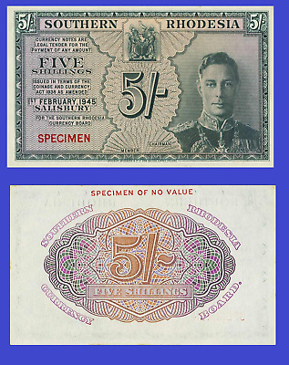 Southern Rhodesia 5 schlling 1943 UNC - Reproduction