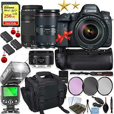Canon EOS 6D Mark II DSLR Camera + (3) Lenses + Holiday Special Bundle