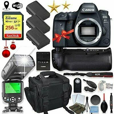 Canon EOS 6D Mark II DSLR Camera Body Only Kit + Holiday Special Bundle