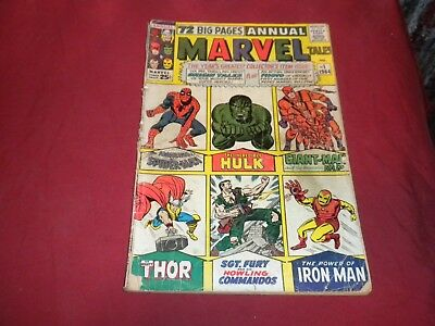 Marvel Tales Annual #1 marvel 1964 silver age 1.8/gd- comic! Lots of keys up!!!!
