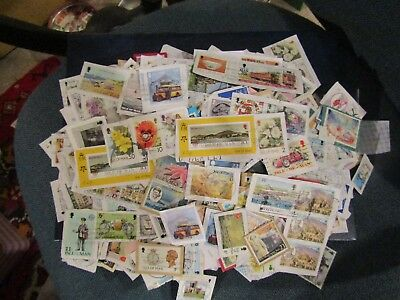 Collection Of 100's Of Used Isle Of Man Stamps