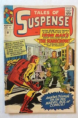 Tales Of Suspense 51 Iron Man First Scarecrow Silver Age VG+/NF- Condition 1964