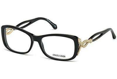 0239c34cb14 Authentic Roberto Cavalli Eyeglasses RC0959 001 Shiny Black 55MM Rx-ABLE