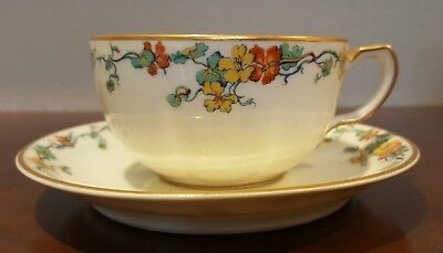 Haviland - Limoges China – France – Nasturtium – Schleiger 704-Flat Cup & Saucer