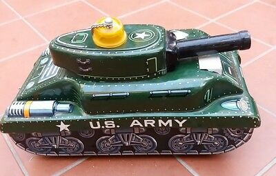 Modern Toys US Army Tank Tin Toy Made in Japan Vintage