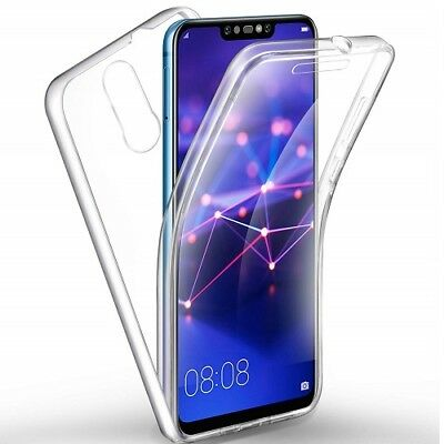 360° Silicone Protective Front & Back Clear Case Cover For Huawei Mate 20 Lite