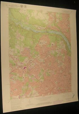 Falls Church Virginia Potomac River 1979 vintage USGS original Topo chart map