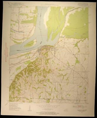 Hickman Kentucky Missouri James Bayou 1953 vintage USGS original Topo chart map