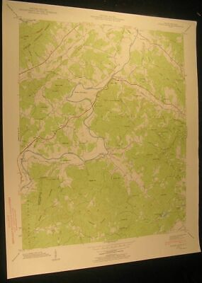 Horse Shoe N. Carolina Rugby Wolf Mtn 1956 vintage USGS original Topo chart map