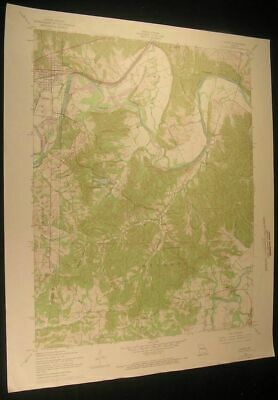 Pacific Missouri Byrnesville Lost Hill 1969 vintage USGS original Topo chart map