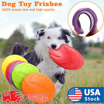 Dog Toy Flyer Flexible Durable Frisbee Disc LARGE Chew Fetch Toys