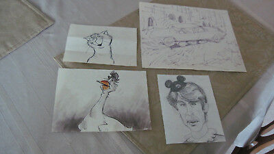 Original Walt Disney Animation Drawings/Four