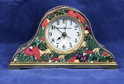 Colorful Howard Miller Desk Alarm Clock Kitchen Vegetable Pattern
