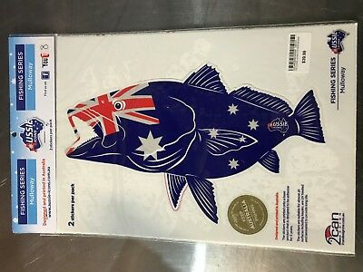 Aussie Icons Fishing Series Mulloway 2 Stickers per pack RRP $39.99