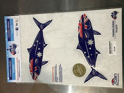 Aussie Icons Fishing Series Kingfish stickers matching pair RRP $14.99